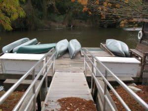 Canoe docks